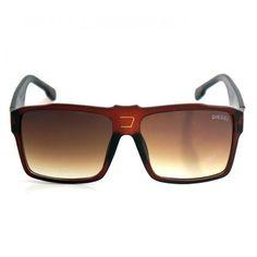 Óculos de Sol Diesel Grafite e Marrom  1ª Linha