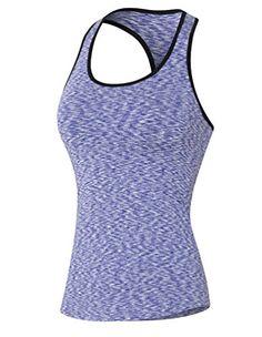 ZKOO Femme Débardeur de Compression Sans Manches T-shirt de Sport Dos  Nageur Pour Running Fitness Violet M 029a25ea294