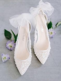 Where to Buy Wedding Shoes in Ireland Wedding Heels, Ivory Wedding, Wedding Rings, Evening Flats, Shoe Releases, Types Of Gowns, Traditional Gowns, Bridal Skirts, Tulle Bows