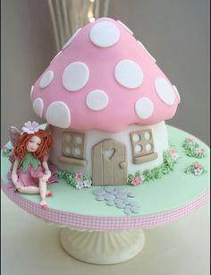 Fairy princess giant cupcake