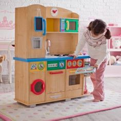 This one is perfect!  Big enough for more than 1 kid to play at a time.  Love the water/ice dispenser on the fridge door!