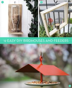 12 Stylish and Easy DIY Birdhouses and Feeders