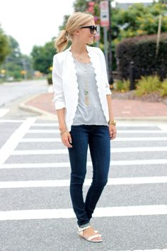 How cute is the trim of this blazer!?