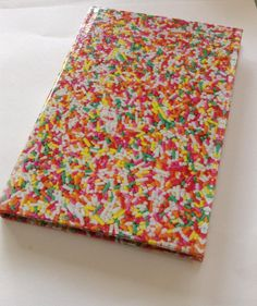 Composition book notebook sprinkles by DoomStuff on Etsy