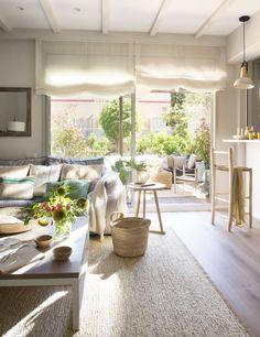Small Apartment Interior, Diy Interior, Home Interior Design, Interior Styling, Interior Decorating, Luz Natural, Home Living Room, Living Room Designs, Sweet Home