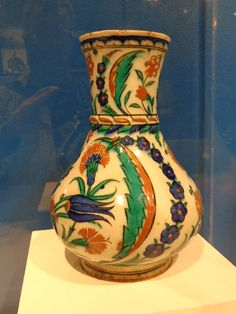 ug, Iznik Turkey, 1575  tin-glazed pottery with carnations, tulips,     Iznik ceramics from the Gulbenkian Foundation