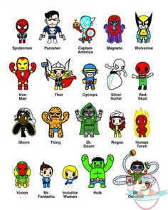 Lot of 4 Marvel Mini Comic Frenzies Tokidoki Blind Box Mini Figure New Sealed