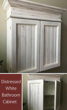 Perfect bathroom cabinet! #affiliate #homedecor #rustic #farmhouse