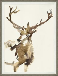 14372 The Grand Stag 2 - Animals - Our Product W 24.875 H 32.875 #WildGame $472.50 Watercolor