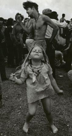 festival - rock chick, loving her attitude!