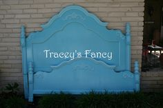 King Bed Custom Painted by TraceysFancy on Etsy, $1000.00  Furniture Bed King tbellion traceys fancy bed king headboard custom painted cottage shabby