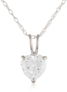 10k White Gold Heart Pendant Enhancer >> More infor at the link of image  : trend jewelry 2016