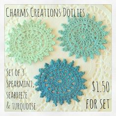 Set of 3 Doilies {6cm} / Charms Creations