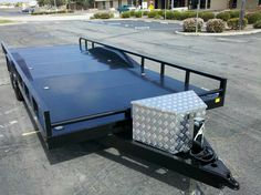 20' Flatbed carries over 7,000 vehicles. Driveover
