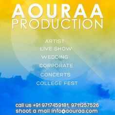 want your event to be a grand one? than mail us at info@aouraa.com