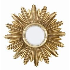 Venezia Gold Leaf Round Mirror
