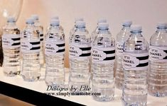 If you are looking to organize a Chanel inspired party, this birthday party will provide a ton of inspiration. It has everything you need for an elegant party vibe with an awesome idea for the favour bags! Coco Chanel, Chanel Black, Printable Water Bottle Labels, Chanel Party, Vintage Inspiriert, Sweet Sixteen Parties, 30th Birthday Parties, Theme Parties, Birthday Ideas