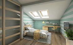 Crowded House Consider Adding An InLaw Suite Attic Master Bedroom, Attic Rooms, Attic Spaces, Bedroom Loft, Loft Room, Attic Bathroom, Bed Room, Attic Bed, Attic Floor