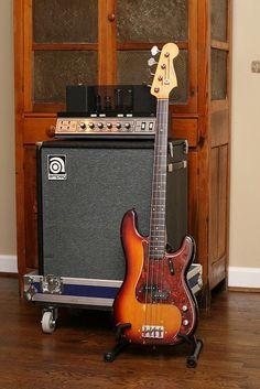 1976 Ampeg B-15N & 1963 Fender Precision Bass