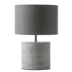 Concrete Table Lamp Paxton Grey