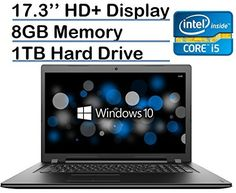 2017 Lenovo 17.3-inch HD+ (1600 x 900) High Performance Premium Laptop PC, Intel Core i5-6200U Processor, 8GB RAM, 1TB HDD, DVD-RW, HDMI, VGA, Bluetooth, 802.11ac, Webcam, Windows 10-Black -  http://www.wahmmo.com/2017-lenovo-17-3-inch-hd-1600-x-900-high-performance-premium-laptop-pc-intel-core-i5-6200u-processor-8gb-ram-1tb-hdd-dvd-rw-hdmi-vga-bluetooth-802-11ac-webcam-windows-10-black/ -  - WAHMMO