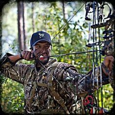 My two favorite things...bow hunting and Luke!!
