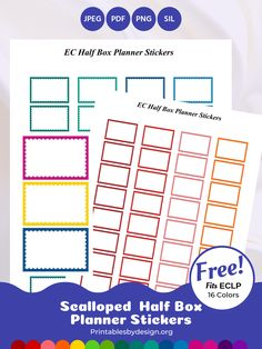 Planner Sticker Categories – Printables by Design Work Planner, Free Planner, Happy Planner, Printable Planner, Planner Stickers, Planner Diy, College Planner, Teacher Planner, Planner Ideas
