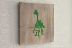 Simply Beautiful By Angela: DIY Dinosaur Handprint Art