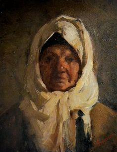Nicolae Grigorescu - Portret de bătrână