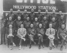 Not exactly movie people but the Hollywood Sheriffs of 1930 . Sheriff, Sirens, Radios, Los Angeles Police Department, Santa Monica Blvd, California History, Classic Movie Stars, City Of Angels, Los Angeles County