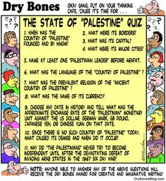 The State of Palestine Quiz.  (No such place as Palestine)