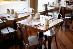 Plow Restaurant Table and Chairs Modern Restaurant, Cafe Restaurant, Restaurant Ideas, Restaurant Interiors, Restaurant Furniture, Coffee Restaurants, Restaurant Tables And Chairs, Cafe Chairs, French Bistro