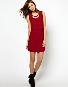 Image 4 ofA Wear Overlay Top Pencil Dress