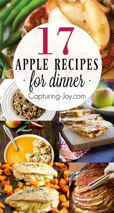 17 Apple Recipes for Dinner - Fun fall dinner recipes you will love! http://Capturing-Joy.com