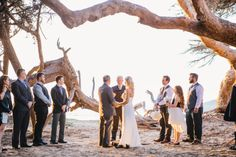 Beautiful mature couple getting married in Pismo Beach, CA. PC: Lisa Mallory Photography.