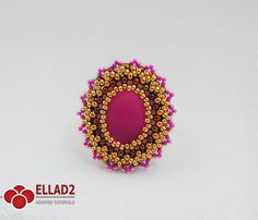 Tutorial Occoro Ring-Beading pattern Instant download by Ellad2
