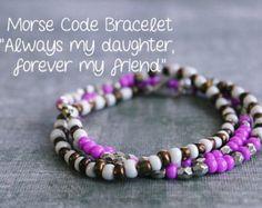 Morse Code Bracelet Beaded Bracelet Boho Bracelet by AlmostFamousa