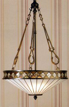 Fargo Art Deco Style Tiffany Pendant Light