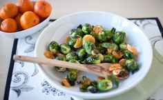 Epicure's Roasted Brussels Sprouts with Clementines & Maple Bacon Sea Salt
