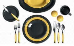 Be sunny! Slate and Sunflower Fiesta Dinnerware