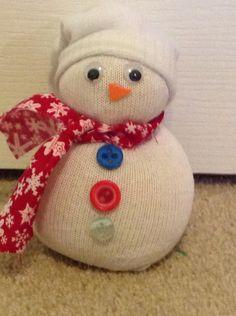 Sock snowman so cute and easy!!