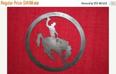 ON SALE 2 pcs Tin Cut Out Bronco Bronco buster by WePeddleMetal