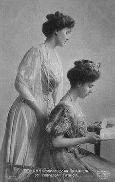 Crown Princess Margaret of Sweden and her sister Princess Patricia daughters of the Duke of Connaught.