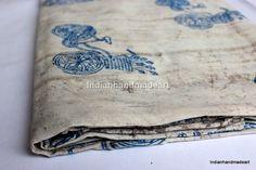 Indian Hand Block Print Cotton Fabric Handmade Print Dabu Fabric 5 Yard 07 #Handmade