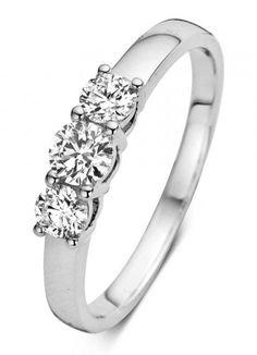 Diamond Point Hearts &, arrows witgouden ring online kopen