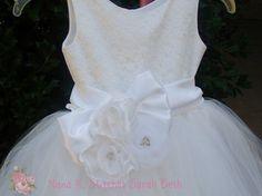 Sara Beth Toddler LaceTulle Flower Girl Dress by NanaKStitches