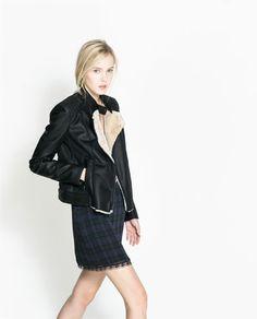 Image 2 of FAUX LEATHER BIKER JACKET from Zara