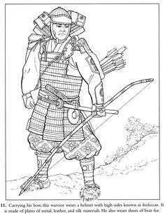 coloring page japanese samurai | inkspired musings: Japan Poems, Culture, Paperdolls and Vintage Clip