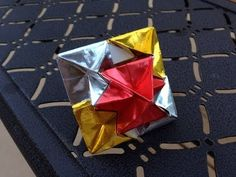 How to fold an origami Octahedron designed by Martin Sejer Andersen