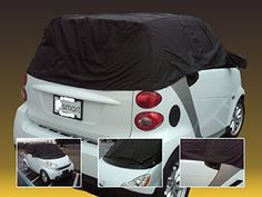 Smart Car Custom Made Waterproof All Weather Vehicle Cover: Not Toy Accessories Convertible Top & Fortwo Free Gift 450 451 Automobiles - Not for Hail: Protects Cargo Charger Controls Decal Mats Seats Speakers Stereo Other Interior/exterior Parts with Best Cover Warranty